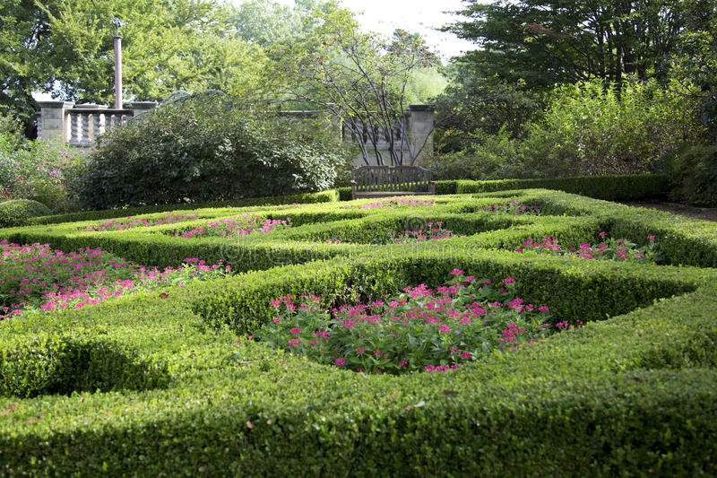Women& x27; s-Garten in Dallas Arboretum lizenzfreies stockfoto