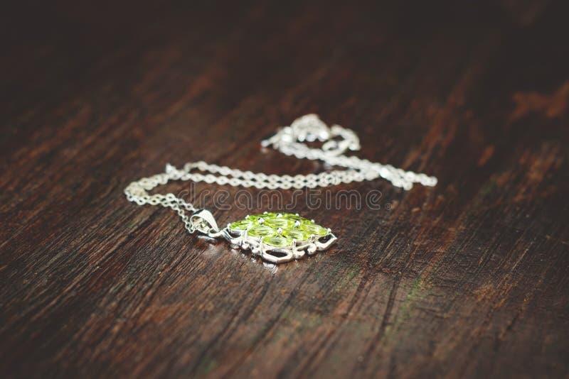 Women's Green Necklace stock photos