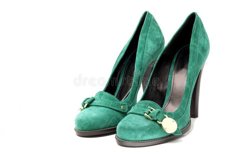 Download Women's Green Suede High Heel Shoes Stock Image - Image: 12914723