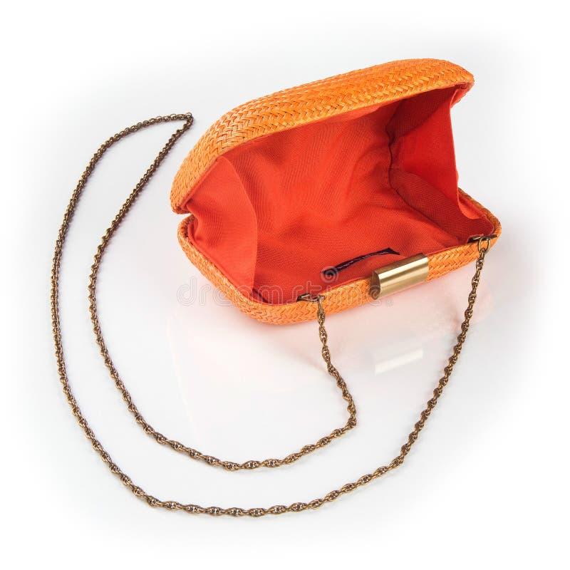 Women`s handbag, Ladies bag, female clutch, clutch.Women`s bag isolated white background. Women`s handbag, Ladies bag, female clutch, clutch.Women`s bag royalty free stock photo