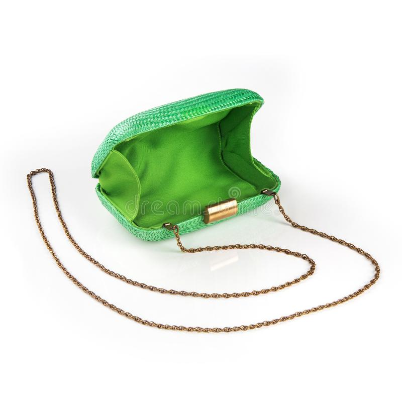 Women`s handbag, Ladies bag, female clutch, clutch.Women`s bag isolated white background. Women`s handbag, Ladies bag, female clutch, clutch.Women`s bag stock photo