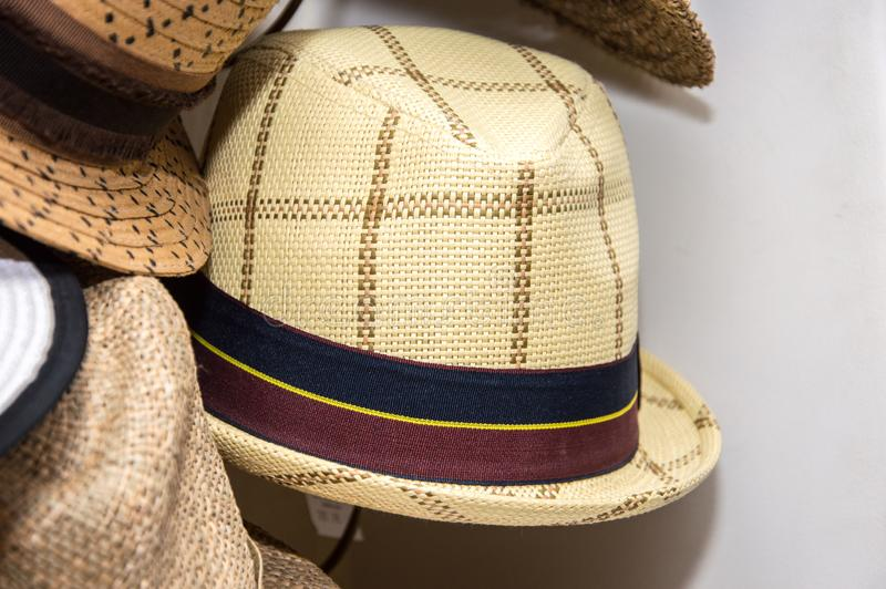 Women& x27;s hats handmade. Current fashion. Clothing stock image