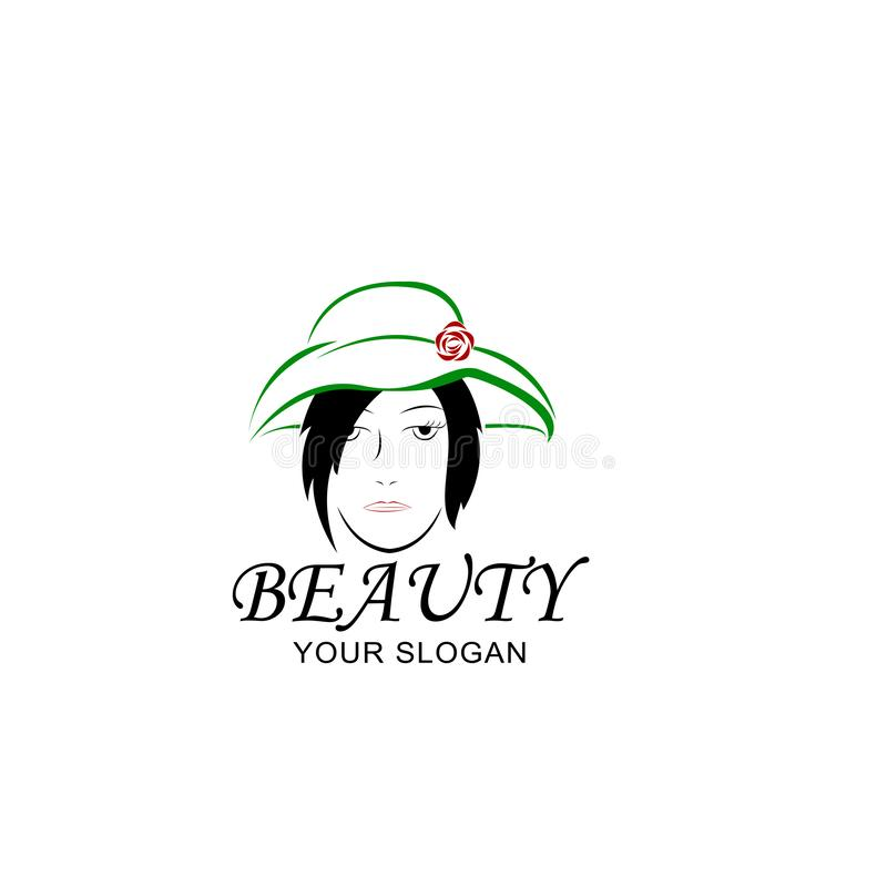 Women`s hats to beautify women vector illustration