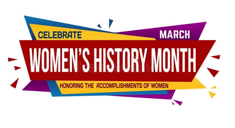 Women S History Month Banner Design Stock Vector
