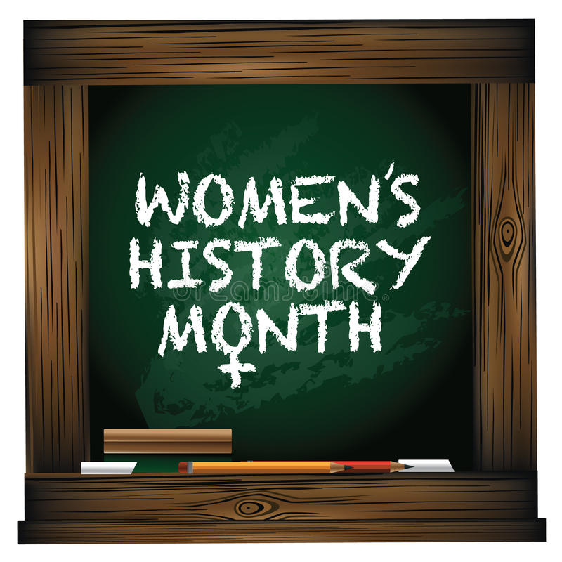 Free Women S History Month Blackboard Design. Stock Photography - 67615582