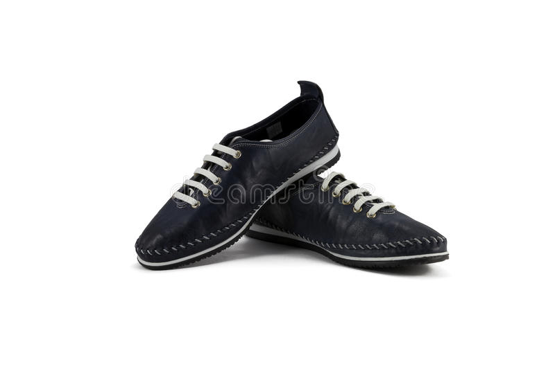 Women's leather shoes royalty free stock photography