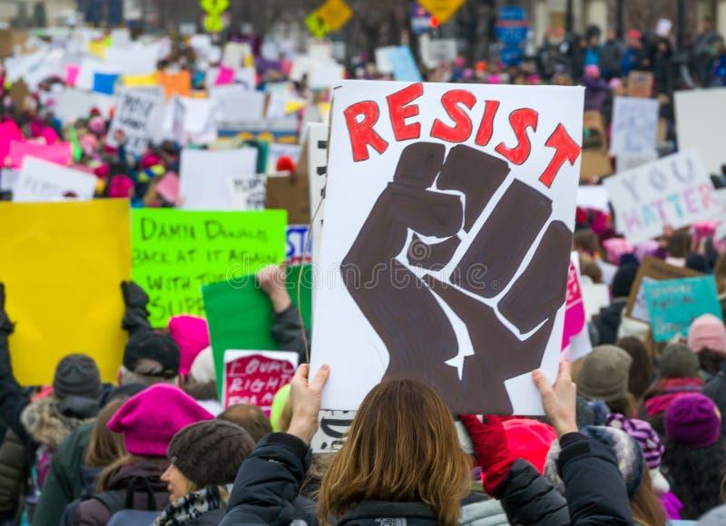 2017 Women`s March Minnesota royalty free stock photo