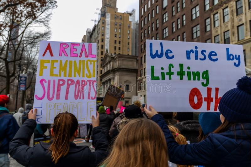 Women`s March 2019 - New York City stock photo