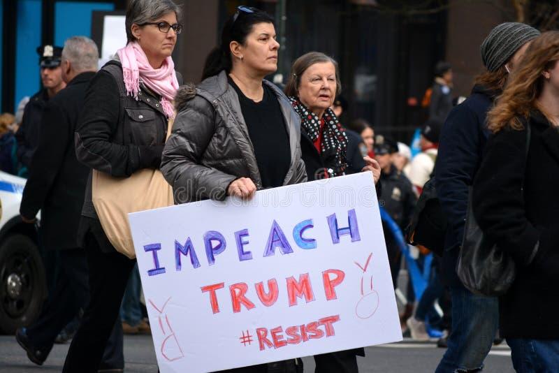 Women`s march. stock photos