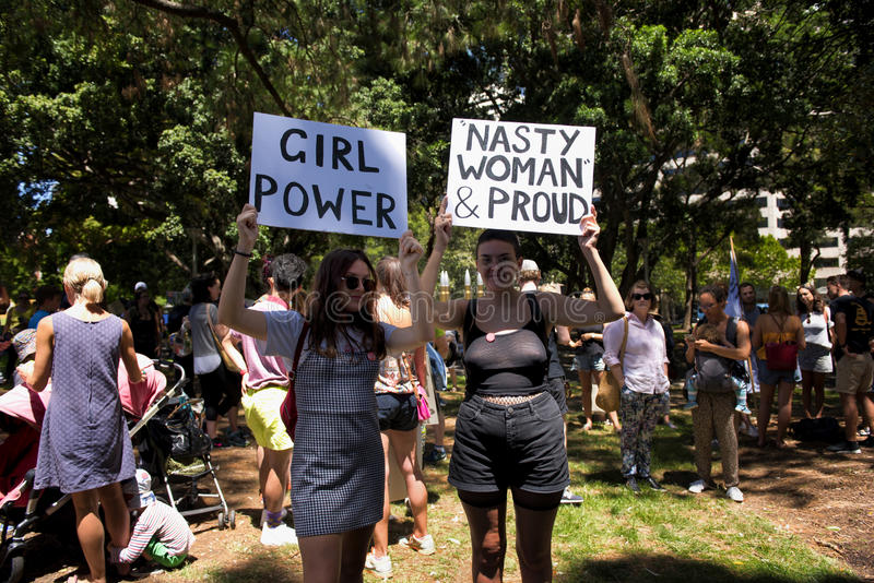 Women`s March, Sydney - Australia stock image