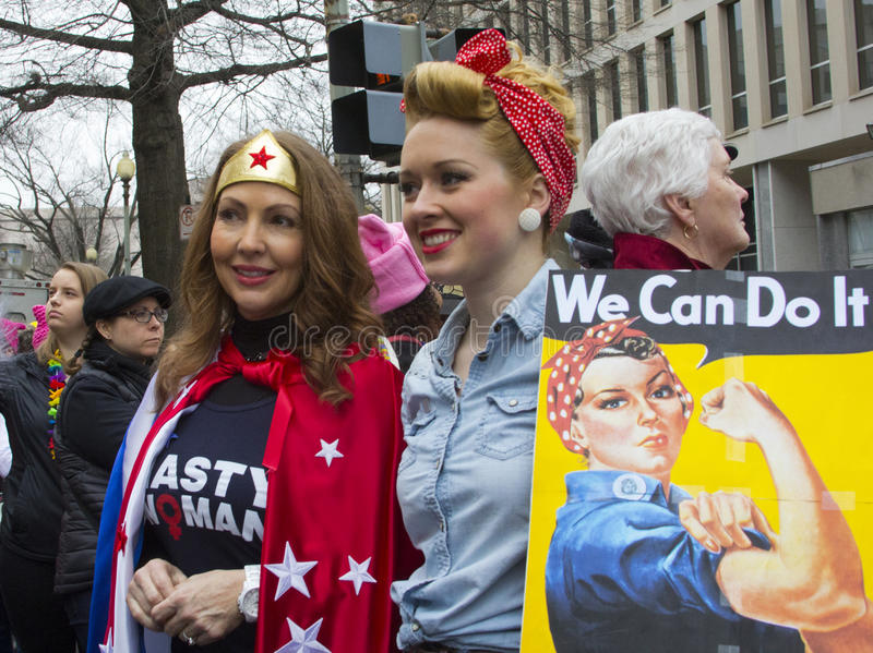 Women`s March on Washington stock photography