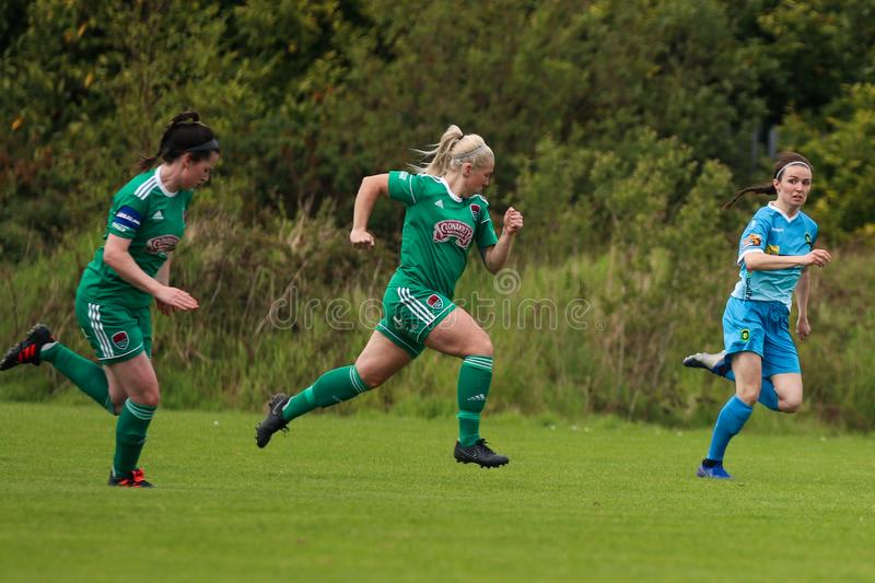 Women`s National League game: Cork City FC vs Peamount United royalty free stock image