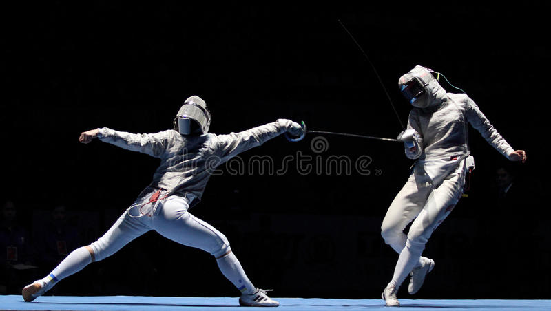 Download Women's National Teams Of Ukraine And China Editorial Stock Photo - Image of athlete, foil: 13514923