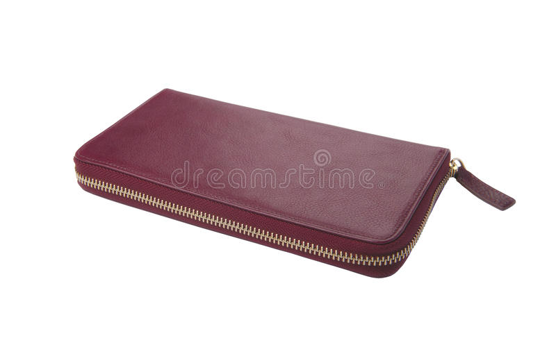 Women's purse with a zipper royalty free stock photography