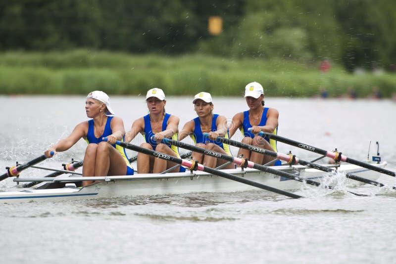 Men's Single Rowing stock image. Image of oarsman, stroke ...
