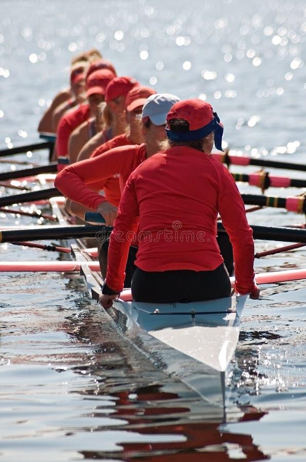 Download Women's Rowing Team Prepares Stock Image - Image: 2307769