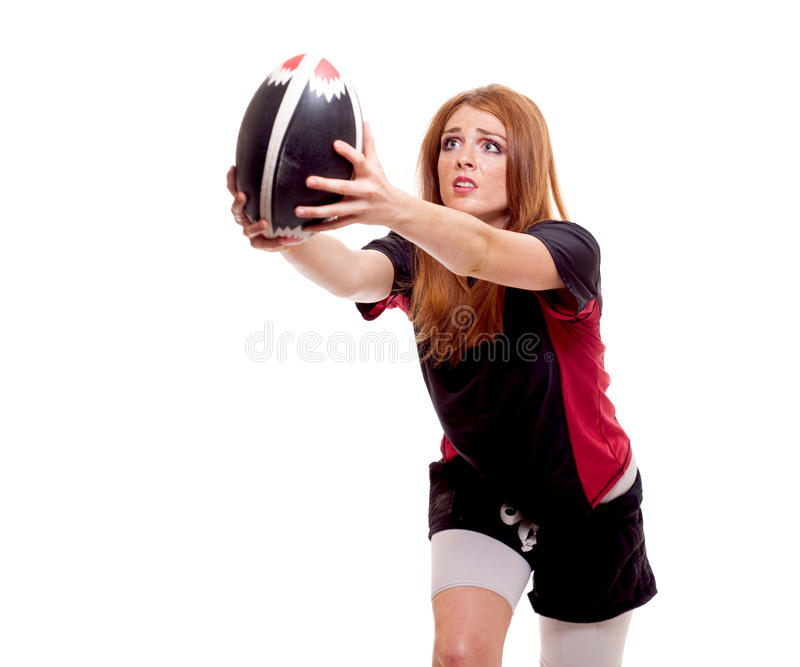 Download Women's Rugby stock photo. Image of hair, uniform, pass - 14926754
