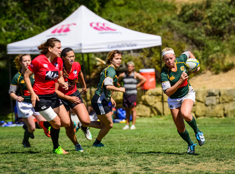 Women`s Rugby Breakout stock images