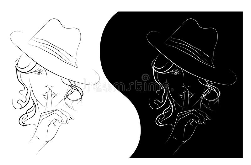 Download Womens secret stock vector. Image of physiognomy, fashion - 20139165