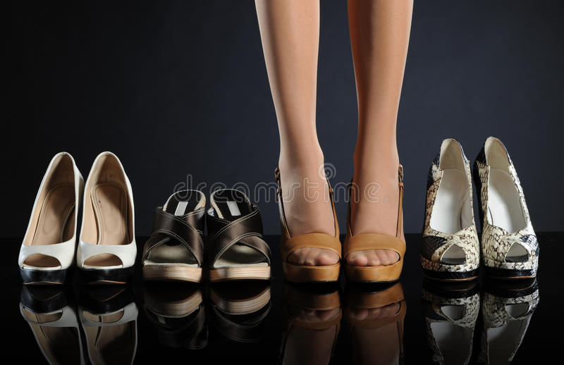 Women's shoes stock photos