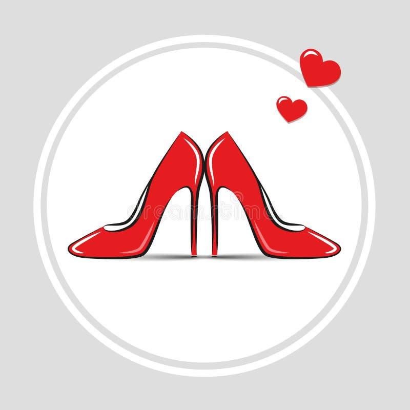 Women`s shoes red high heel fashion sale. Vector illustration EPS10 vector illustration