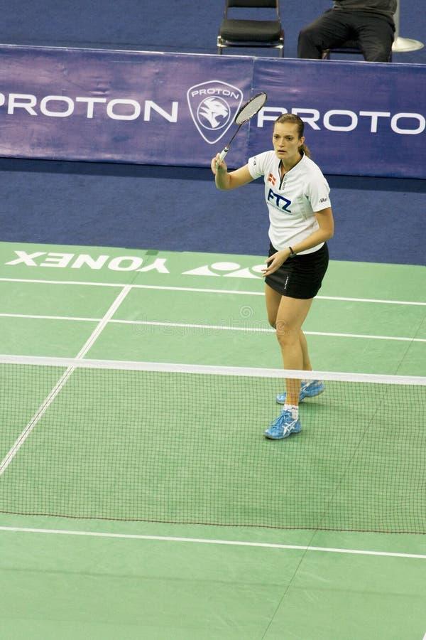 Download Women's Singles Badminton - Tine Rasmussen Editorial Stock Photo - Image: 7679863