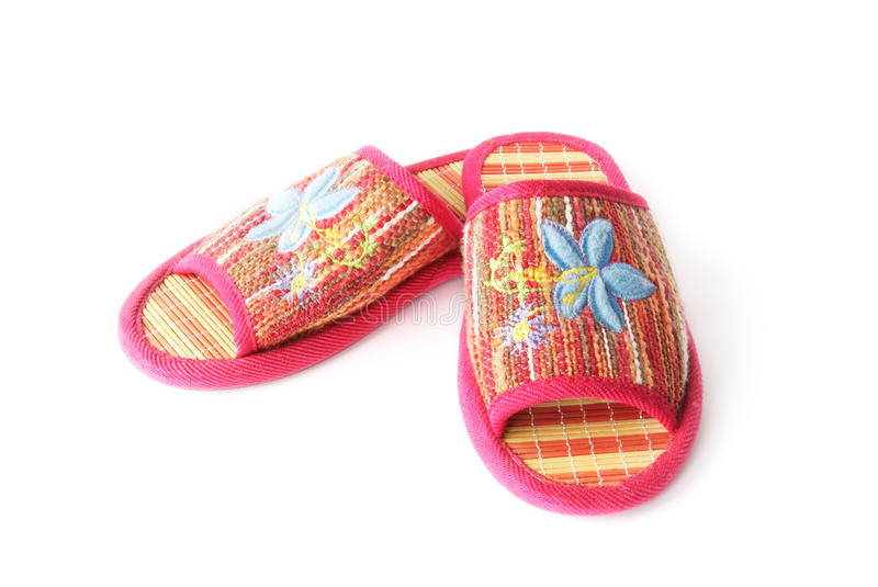 Women's slippers royalty free stock photo