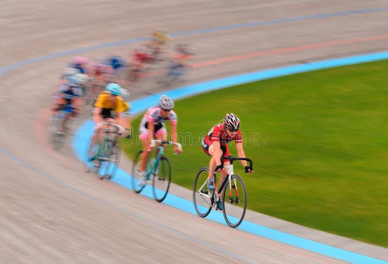 Women's Velodrome Cycling - 12K Scratch final royalty free stock photo