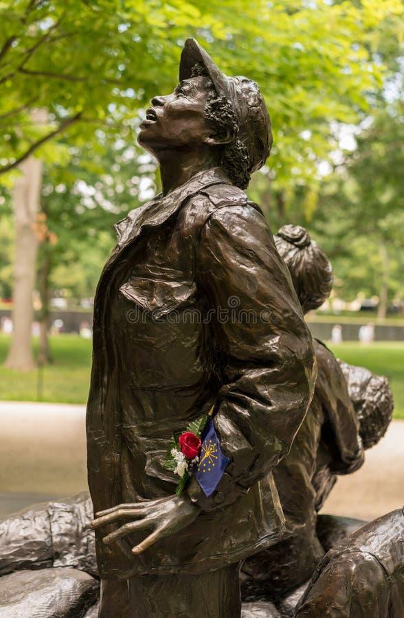 Women`s Vietnam memorial in Washington stock photography
