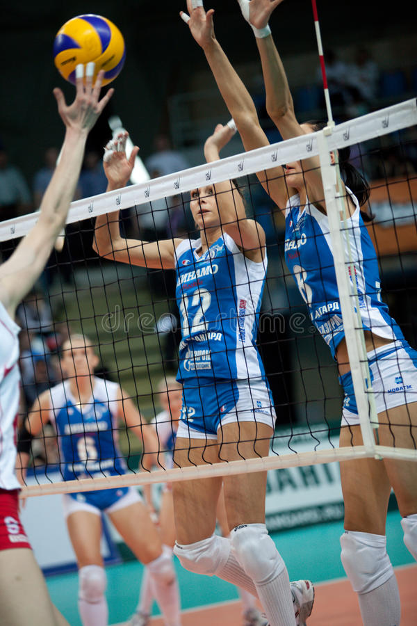 Women's volleyball stock image