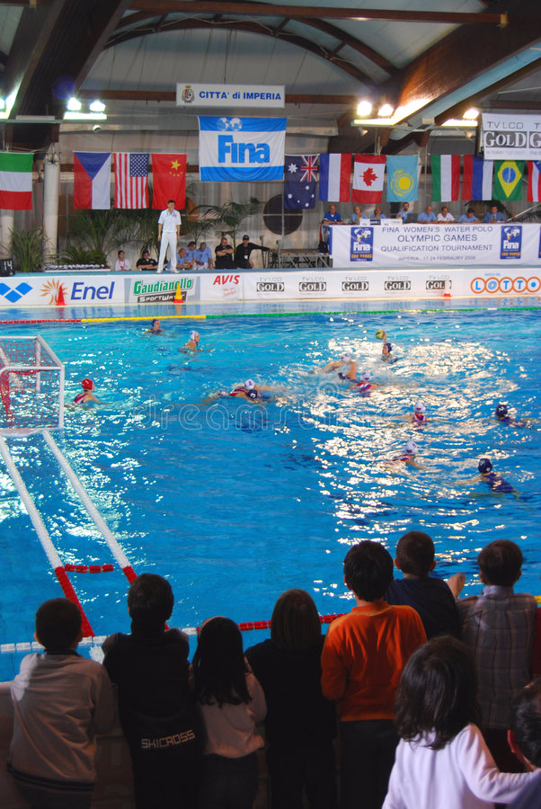 Women S Water Polo. Final Italy-Russia Editorial Photography