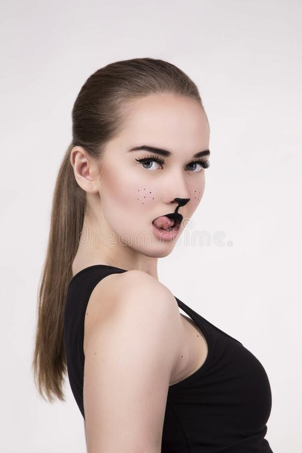 Women's Wearing Black Tank Top Shirt Free Public Domain Cc0 Image