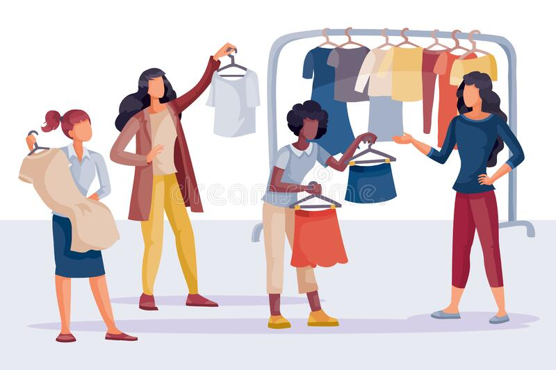 Buy Clothes Stock Illustrations – 10,536 Buy Clothes Stock ...