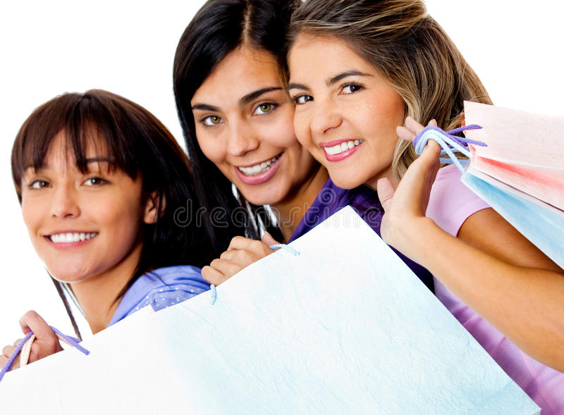 Download Women with shopping bags stock image. Image of people - 22142909