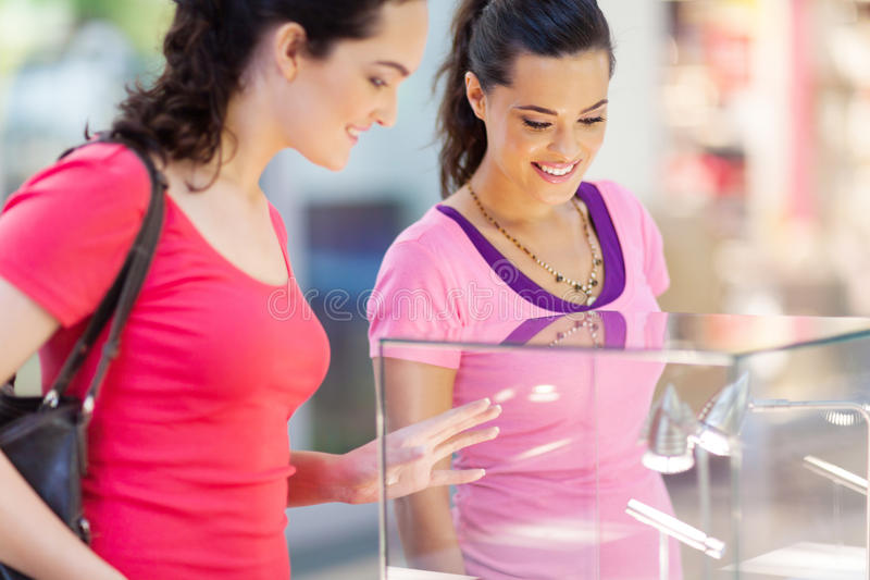 Download Women shopping jewellery stock photo. Image of cheerful - 26730142