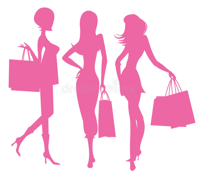 Women Shopping stock illustration