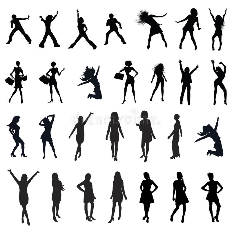 Women silhouette stock illustration