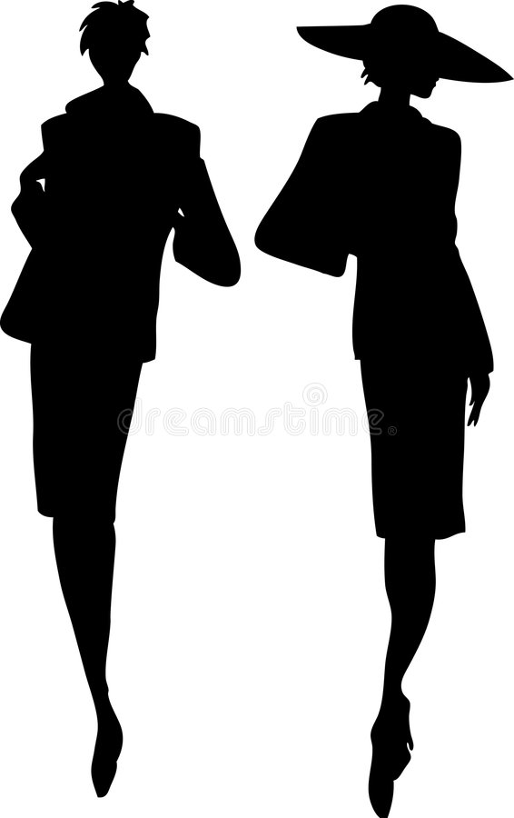 Download Women silhouettes stock illustration. Image of shape, shooting - 1172770