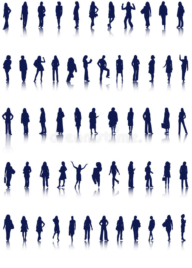 Women silhouettes royalty free illustration