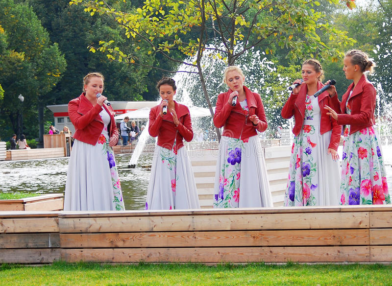 Download Women Singers Perform In The Park Editorial Stock Photo - Image of ladies, happy: 33463223