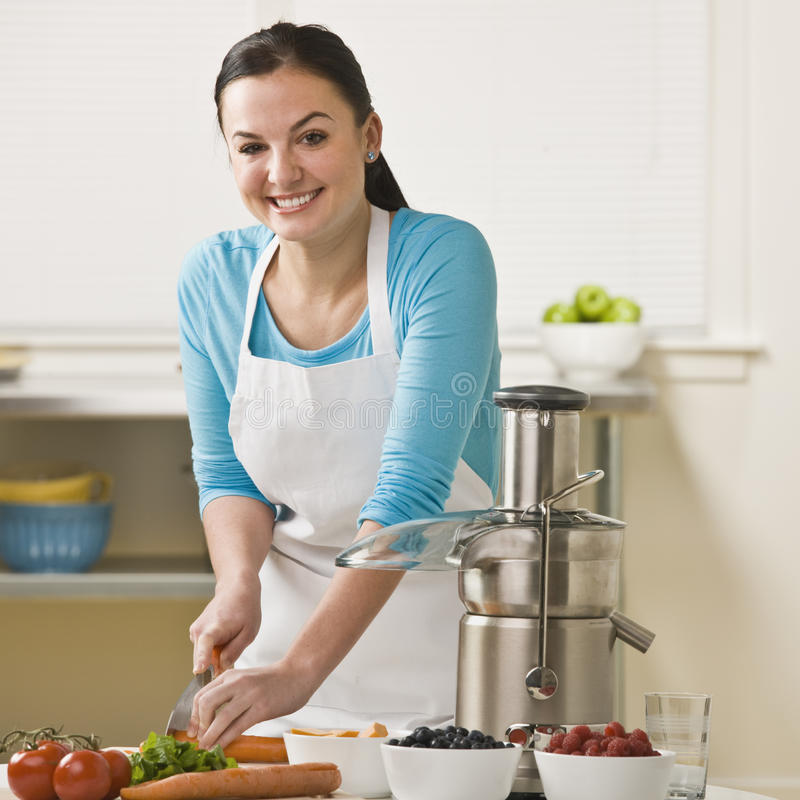 Download Women Slicing Produce stock image. Image of house, female - 10321073