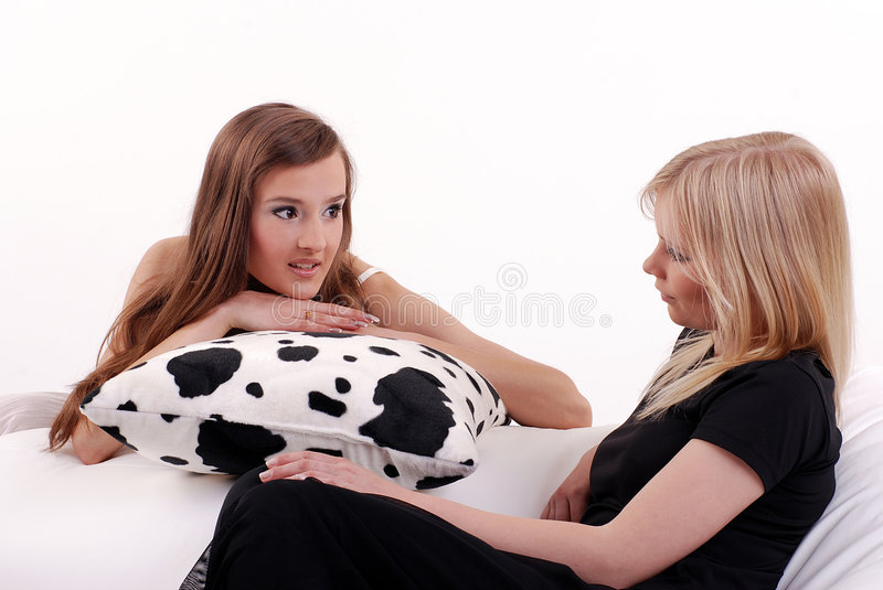 Women are speaking royalty free stock image