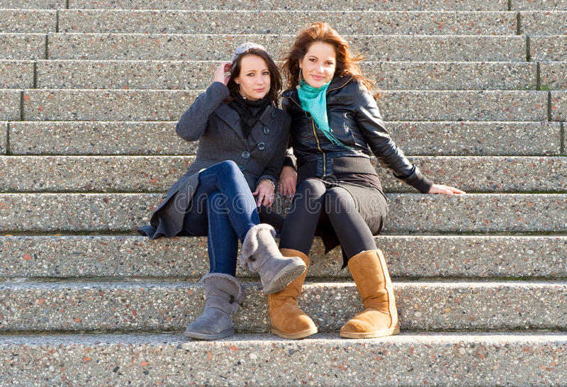 Women On Steps Royalty Free Stock Photography