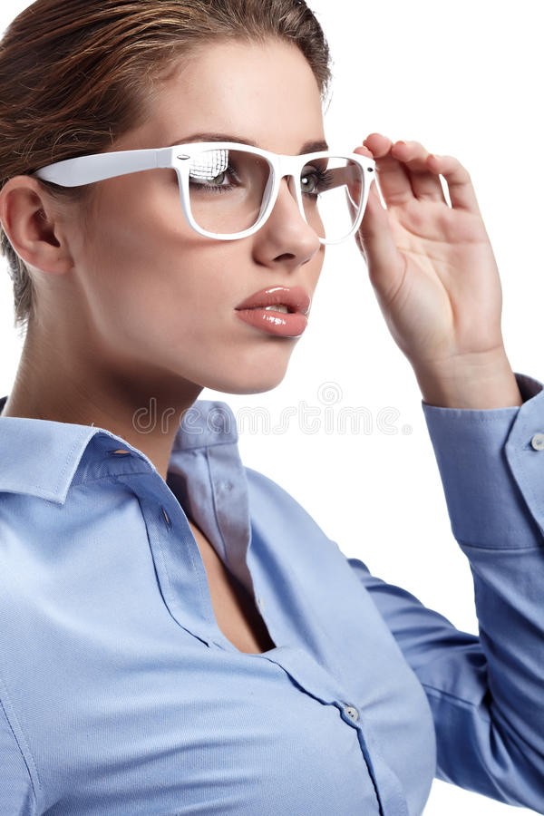 Women or student on the business background stock photography