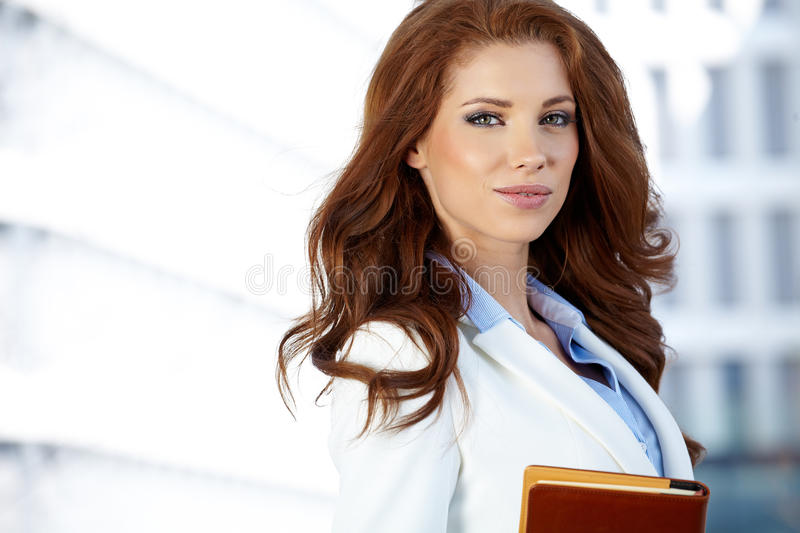 Women or student on the property business background stock photo