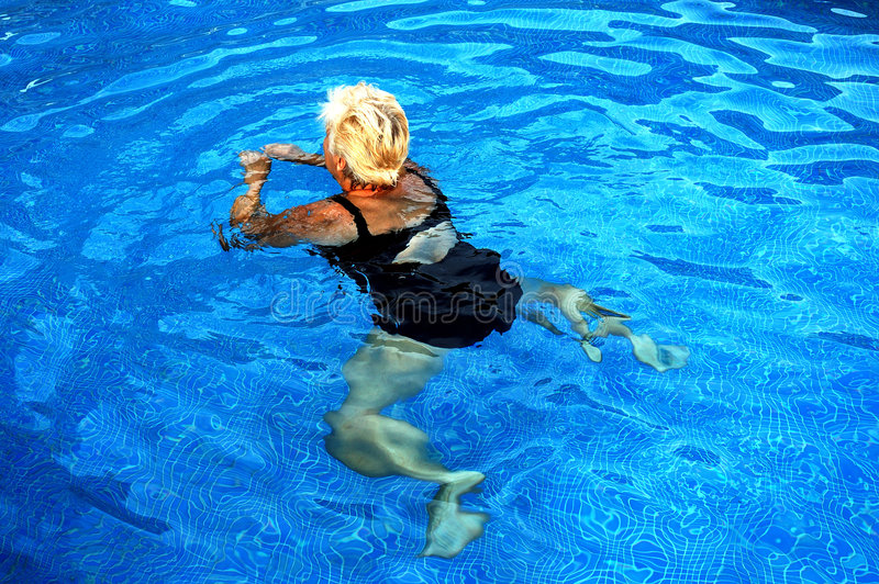 Women swiming royalty free stock photos