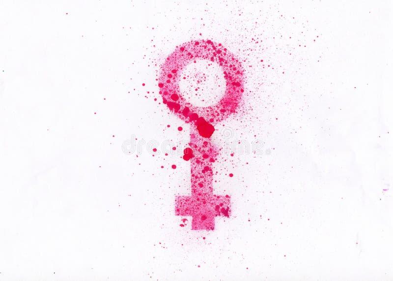 Women symbol. An illustration of the women symbol royalty free illustration