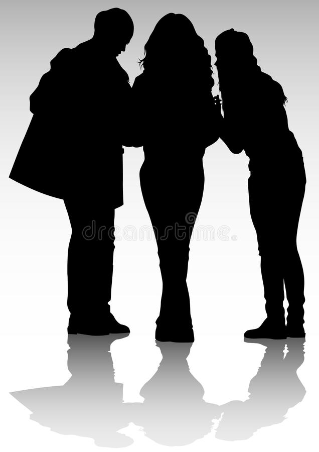 Download Women talk stock vector. Illustration of style, dress - 13988964