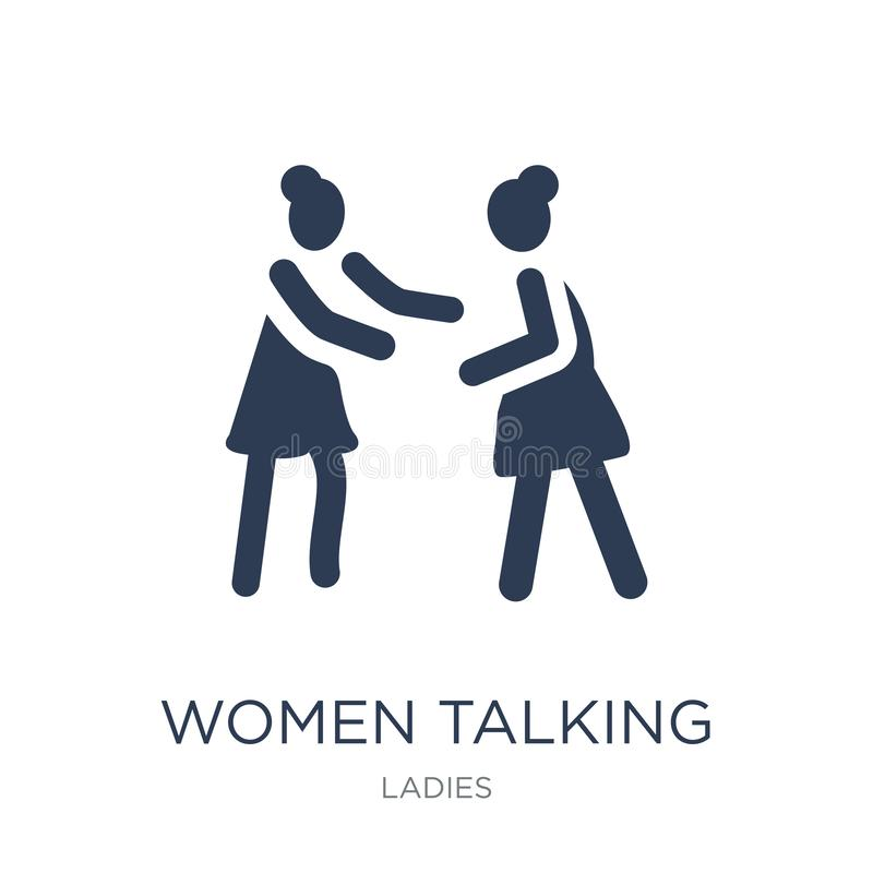 Women Talking icon. Trendy flat vector Women Talking icon on white background from Ladies collection vector illustration