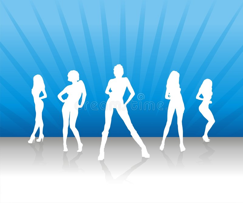 Women Team 2. Women Team / Powerpuff Women / Girls royalty free illustration